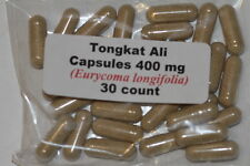 Tongkat Ali 200:1 Root Extract Powder Indonesia Longjack 30 count 400mg each