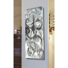 Contemporary Silver Metal Wall Clock Art Sculpture - Light Source by Jon Allen