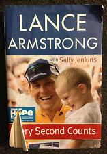 Lance Armstrong Every Second Counts with Sally Jenkins Hardcover with Dustjacket