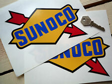 "SUNOCO Old Style Classic Race Car STICKERS 8"" Pair Racing Petrol Pump Vintage"