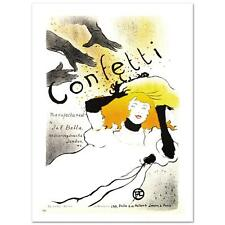 """""""Confetti"""" Hand Pulled Lithograph by the RE Society  Henri de Toulouse-Lautrec"""