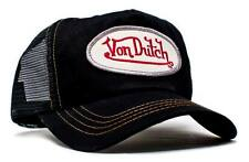 Authentic New Von Dutch Adult Black/Black Baseball Cap Hat Trucker Mesh Snapback