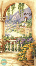 Cross Stitch Kit ~ Dimensions European Terrace Arch Town View #35219