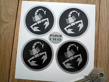 ABARTH WHEEL CENTRES STYLE STICKERS FIAT Sport etc