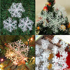 NEW 30*Christmas Holiday White Snowflake Charms Festival Decoration Ornaments