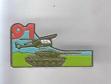 RARE PINS PIN'S .. ARMEE ARMY CHAR TANK HELICOPTER HELICOPTERE 91 EME ~A8