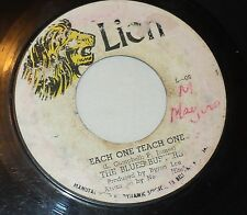 Vintage Reggae Vinyl 45 The Blues Busters Each One Teach One; Thinking of You