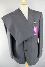 "BNWT BALMAIN PURE WOOL BLACK PINSTRIPED SUIT CHEST 38 (SHORT)/WAIST 36"":RRP £279"