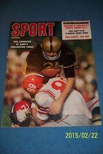 1958 Sport Magazine ARMY Cadets BOB ANDERSON No Label NEWS STAND Original