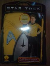 STAR TREK CAPTAIN KIRK ACTION SUIT Complete Costume Age 4 / 4+ Rubie's Rubies