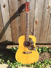 Suzuki-Hummingbird-Acoustic-Guitar-(SUA-D)-Blonde-20 Frets-Free USA Shipping