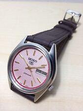 Orologio Vintage Seiko 5 Automatico 7009 Day_date Mm 35 Watch Pink
