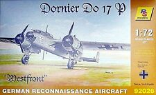 DORNIER Do 17 P 'WESTFRONT' (LUFTWAFFE MARKINGS) #26 1/72 RS MODELS