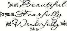 Psalm 139:14 V2 Christian Wall Decal by Bible Verse Wall Art...made in the USA