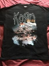 1999 KORN ISSUES ALBUM BAND T SHIRT MENS SIZE XL BLACK BROWN ROCK METAL BASS