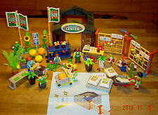 Playmobil big 4480 Flora Shop Garden Center glas green House + lot extras   LGB