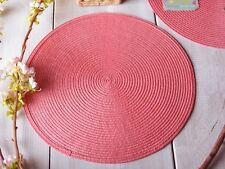 "IZA PEARL COLLECTION ""Garden Party CHA CHA"" corallo rosa cucita PLACEMAT"