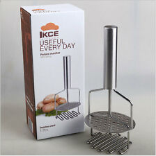 NEW Stainless Steel Potato Masher Double pound mashed potatoes with spring 748
