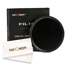 52mm Slim Adjustable ND Lens Filter Variable Fader ND2 to 400 Neutral Density