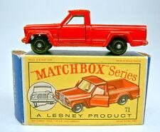 """Matchbox RW 71B Jeep Gladiator rot weiße Einrichtung in """"D"""" Box"""