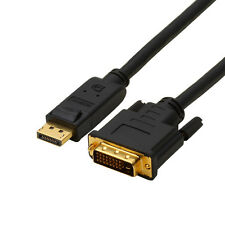 New 6FT 1.8M Displayport DP Male To DVI-D Male Adapter Cable Core Black