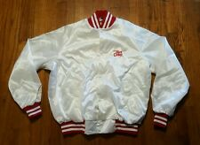 Enjoy DIET COKE white red Varsity Jacket XL Spell out Tournament Apparel VTG 80s