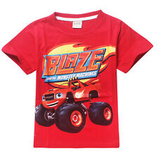 6-7Year Kids Cars Blaze&Monster Machines Boys Girls Cartoon Tops Casual T-Shirts