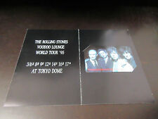 Rolling Stones Voodoo Lounge Japan Tour 1995 Japan Phone Card Mick Jagger