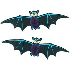*2 Retro Styled Halloween FLYING BATS Hanging Decorations*VTG BEISTLE 1980