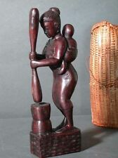 Traditional Rice Tool Sculpture Mother Child Thai