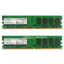 New 2X2GB 4GB PC2-6400U 800mhz 240pin Desktop DDR2 DIMM ram memory Non ecc