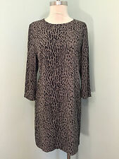 Gap Shift 8 Gray Animal Print Leopard Excellent Career Casual 3/4 sleeve