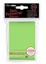 10x PACKS Magic, Pokemon, Standard Ultra-Pro LIME GREEN Card Sleeves 50ct NEW!