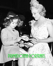 SHIRLEY TEMPLE & SONJA HENIE 8X10 Lab Photo 1936 ICE SKATES Portrait