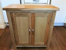 Ordos Small Cupboard / Storage cabinet with 2 door and shelf natural oak colour