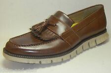 New Cole Haan Zerogrand Tassel Loafer Shoes Size 8.5 Brown Leather
