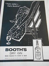 1960 Pub Advert Print BOOTH'S Dry gin