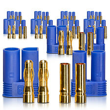 "High Current EC5 Connector Jack 0.2"" Gold-Contact Plug 10 Pair Core Part"