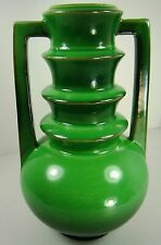 Roseville Art Pottery EXCEPTIONAL Futura  EMERALD Green URN Vase 389 9 Art-Deco