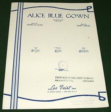 """Alice Blue Gown Copyright 1919 1947 Sheet Music from Play """"IRENE"""""""
