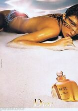 PUBLICITE ADVERTISING 115 2001 Christian Dior Dune eau de toilette