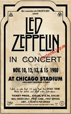 Led Zeppelin 1980 Chicago  CONCERT POSTER  beautiful!  plant, page, Bonham