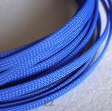 6mm x 5m Blue Expandable Braided Cable Sleeving High Density PC RC Modding