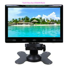 """HD 7"""" Ultra Thin 1024*600 TFT LCD Color 2 Input Car Rear View Headrest Monitor"""