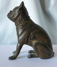 CAST IRON BOXER / BULLDOG EARLY 1900'S CAST IRON BANK HUBLEY/A.C. WILLIAMS