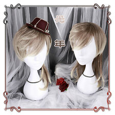Japanese Harajuku Gothic Lolita Vintage Coffee Gradient Men Cosplay Daily Wig