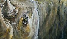 Rhinoceros - Original  Wildlife Painting