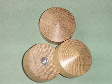 Oak cone vibration isolation feet for Hi-Fi equipment.  Jumbo size.(3) M6 insert