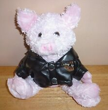 Harley Davidson Love to Ride Motorcycles Collectible Plush Pig Animal Toy
