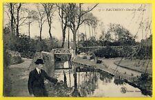 cpa Très Rare HAUTMONT en 1920 (Nord) Une Allée du CLOS à  Magdeleine MARGERIN